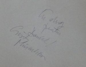 autograf Cristi Minculescu